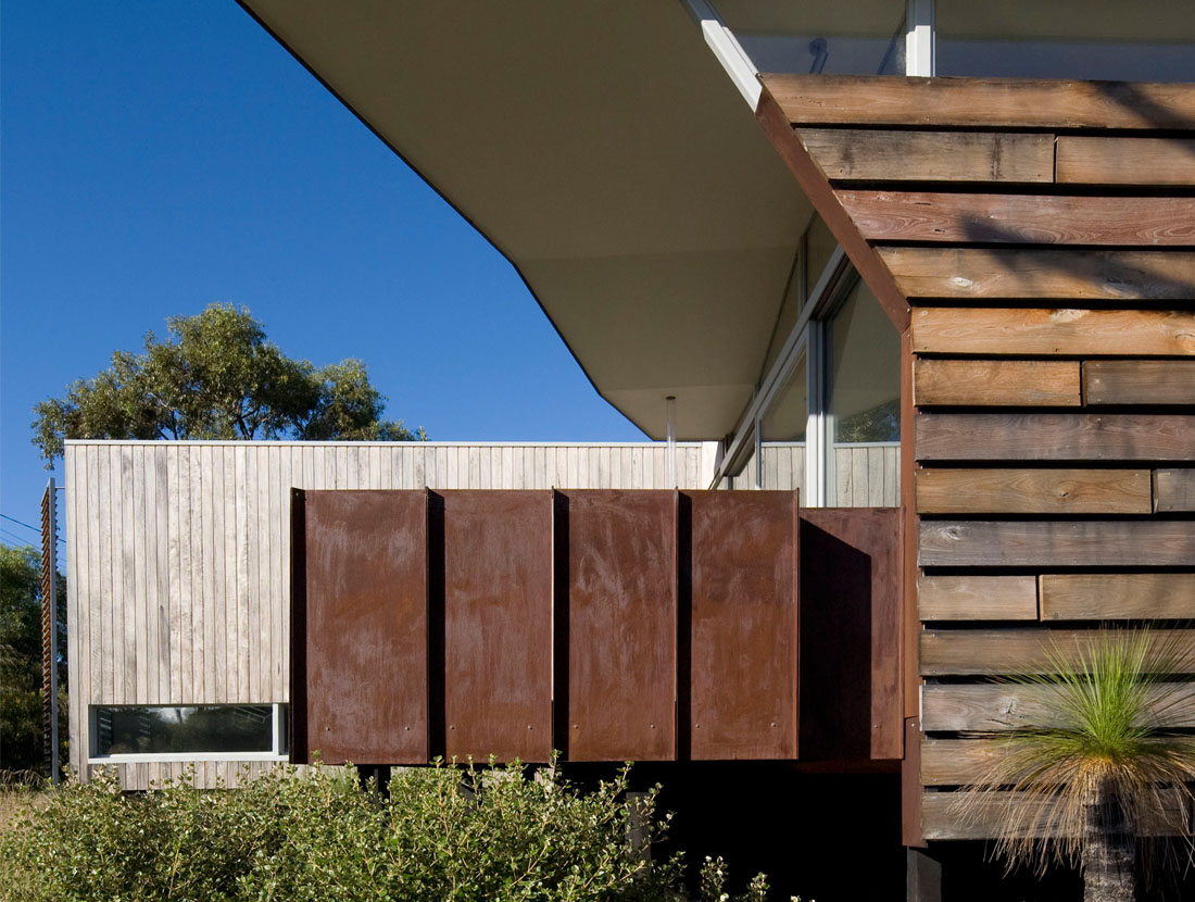 Bailey Street Residence - Timber Cladding & Corten Steel