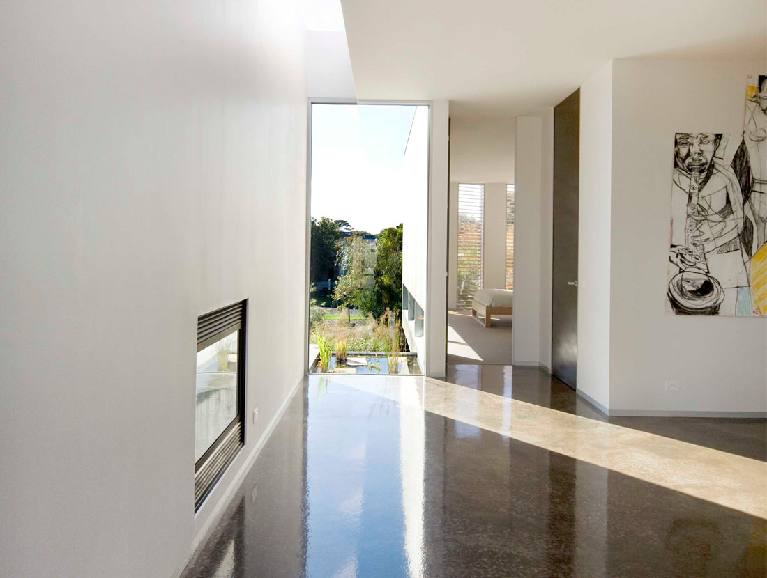 Bailey Street Residence - Polished Concrete Floor